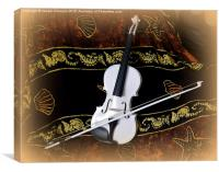 The White Violin , Canvas Print