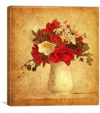 Vase of Flowers. , Canvas Print