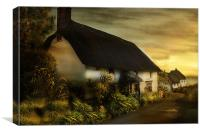 Cornish Cottage, Canvas Print