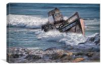 Wrecked Boat , Canvas Print