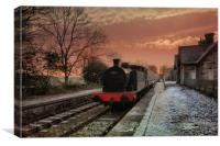 Hawes Station , Canvas Print
