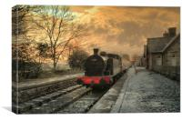 The Station at Hawes Yorkshire, Canvas Print