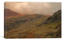 View of Pen Y Pass, Canvas Print
