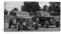 Hot Rods, Canvas Print