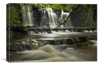 Scarloom Waterfall, Holden, Lancashire, Canvas Print