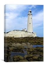 St. Mary's Lighthouse, Canvas Print
