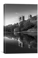 Cathedral reflection in black & white, Canvas Print