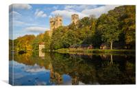 Durham Cathedral in Autumn., Canvas Print