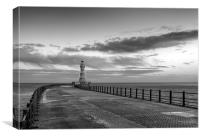 Roker lighthouse and Pier, Canvas Print
