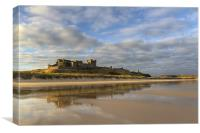 Bamburgh Castle Reflection, Canvas Print