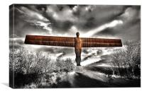 Angel of the North,Rust, Canvas Print