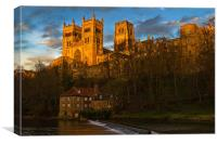 Durham Cathedral Golden Sunset, Canvas Print