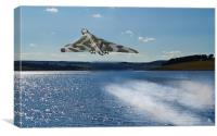 Vulcan Bomber over Derwent Reservoir, Canvas Print