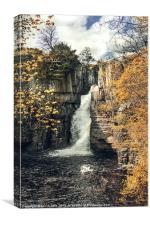 High Force in Autumn colours, Canvas Print