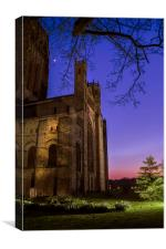 Durham Cathderal early night sky, Canvas Print