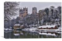 Durham Cathedral in Winter, Canvas Print