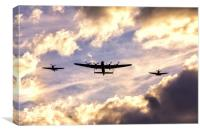 Battle of Britain Memorial Flight, Canvas Print