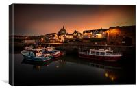 Seahouses Harbour, Canvas Print