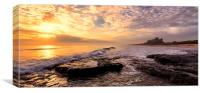 Bamburgh Sunrise Panaromic, Canvas Print