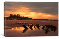 Bamburgh Wreck, Canvas Print