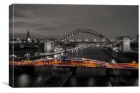 Newcastle Quayside, Canvas Print