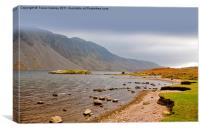 The Bleakness of Wast Water, Canvas Print