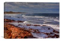 Sea View - Bamburgh, Canvas Print