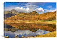 Blea Tarn Reflections  Lake District, Canvas Print