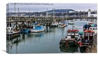 The Busy Harbour Scarborough, Canvas Print