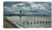 Spurn Point River Humber, Canvas Print