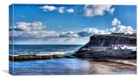 Whitby Harbour View, Canvas Print