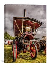 The Burrell Road Locomotive, Canvas Print