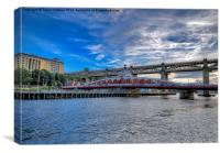 Port of Tyne Swing Bridge, Canvas Print