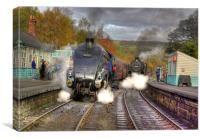 Steam at Grosmont, Canvas Print
