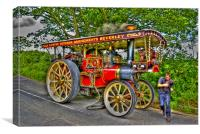Showman's Road Locomotive, Canvas Print