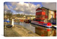Canal Side - Skipton., Canvas Print