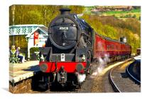 At The Platform - Grosmont, Canvas Print