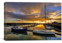 Fleetwood Marina Sunset, Canvas Print