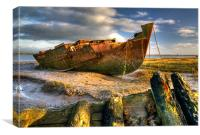 Shipwrecks on the River Wyre, Canvas Print