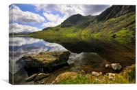 Reflections At Stickle Tarn, Canvas Print