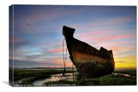 Sunrise At Fleetwood marsh, Canvas Print