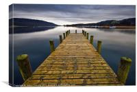 Coniston Jetty, Canvas Print