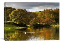 Loughrigg Tarn Reflections, Canvas Print