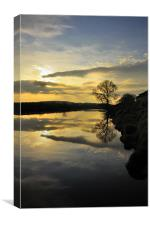 Crook O' Lune Reflections, Canvas Print