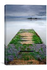 The Jetty To Piel Island, Canvas Print
