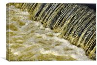 Water falling, River Lune, Canvas Print