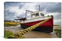 The Boat, Lytham, Canvas Print