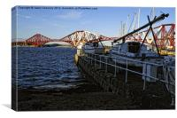 Boats At South Queensferry, Canvas Print