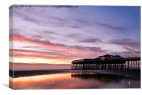 Blackpool North Pier Sunset, Canvas Print