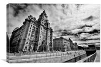 The Three Graces, Liverpool, Canvas Print